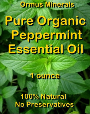 Ormus Minerals -PURE Organic Peppermint Essential Oil