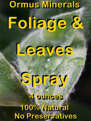 Ormus Minerals -FOILAGE and LEAVES Spray (Concentrate)